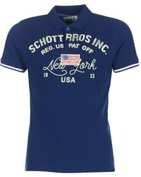 Schott Nyc - Alex Men's Polo Shirt In Blue - Lyst