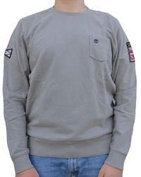 Timberland EASTHAM BADGE CREW FELPA GRIGIA Sweat-shirt - Gris