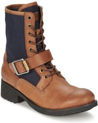 G-Star RAW - Patton V Trooper Strap Women's Mid Boots In Brown - Lyst