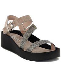 Tosca Blu | Sandalo Velour Tortora Women's Sandals In Multicolour | Lyst