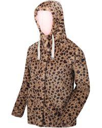 Regatta Haddie Full Zip Heavyweight Hooded Faux Fur Fleece Brown Sweatshirt