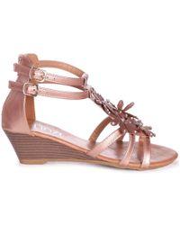 Linzi - Lana Women's Sandals In Gold - Lyst