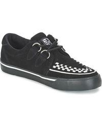 T.U.K. Lage Sneakers Creepers Sneakers - Zwart