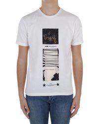Daniele Alessandrini M7489E6434100 T-shirt - Blanc
