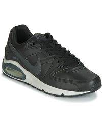Nike Lage Sneakers Air Max Command Leather - Zwart