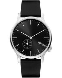 Komono Horloge Winston Subs Black Silver - Zwart