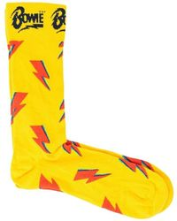 Happy Socks Calcetines FLASHY BOWIE - Amarillo