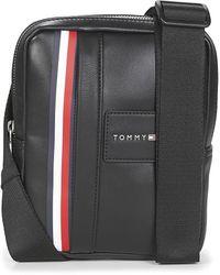 Tommy Hilfiger Handtasje Th Metropolitan Mini Reporter - Zwart