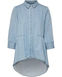 ONLY 15195905 Canberra Shirt Women Denim Light Blue Shirt