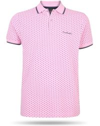 Pierre Cardin Dotted Polo Polo Shirt - Pink