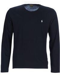 Polo Ralph Lauren L/S CREW-CREW-SLEEP TOP hommes T-shirt en Noir