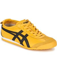 Asics Lage Sneakers Mexico 66 - Geel