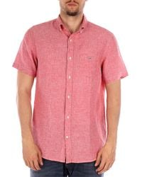 GANT 3040621 camisas hombre rojo