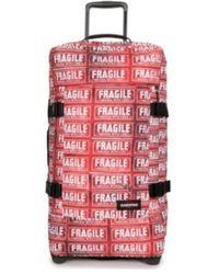 Eastpak Valise Sac à roues EK61L 58V Tranverz S rouge motif fragile