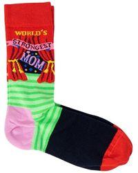 Happy Socks Calcetines WORLD'S STRONGEST MOM - Rojo