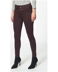 Best Mountain Pantalon slim taille haute Pantalon - Rouge
