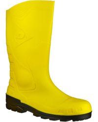 Dunlop Devon Wellington Boots - Yellow