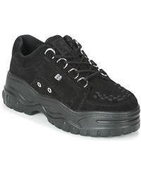 T.U.K. Lage Sneakers Creeper Sneakers - Zwart