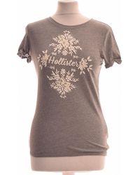 Hollister Top Manches Courtes 34 - T0 - Xs T-shirt - Gris