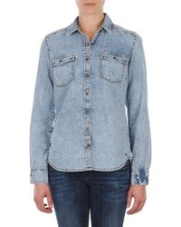 S.oliver - Chemister Manches Lo Women's Shirt In Blue - Lyst