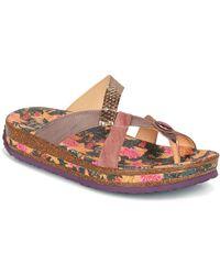 Think! - Derga Women's Flip Flops / Sandals (shoes) In Brown - Lyst
