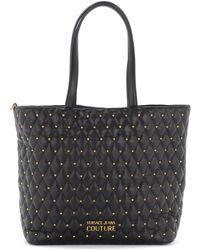 Versace Jeans Couture Sac porté épaule noir clouté Cabas