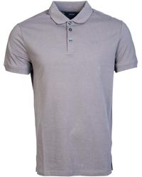 Armani Jeans - Polo Shirt 8n6f12 6j05z Men's Polo Shirt In Grey - Lyst