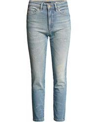 Salsa Jeans Jean Secret Glamour Push In Capri - Bleu