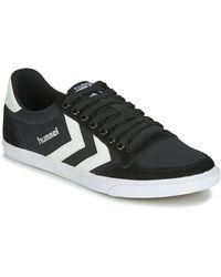 Hummel Hoge Sneakers Ten Star Low Canvas - Zwart