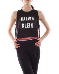 Calvin Klein 00GWT9K122 RELAXED TANK - Negro