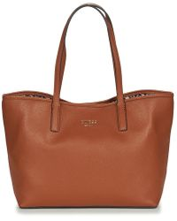 Guess Vikky Tote Women's Shopper Bag In Brown