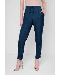 Best Mountain Pantalon fluide élastiqué femmes Pantalon en bleu