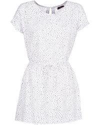 Volcom - Mix A Lot Dress Women's Dress In White - Lyst