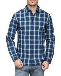 Tommy Hilfiger Chemise à carreaux hommes Chemise en bleu