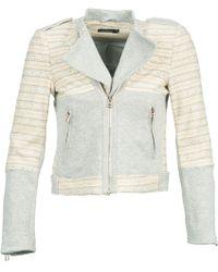 Color Block - Gedu Women's Jacket In White - Lyst