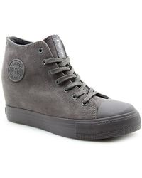 Big Star - Bb274091 Women's Shoes (high-top Trainers) In Grey - Lyst