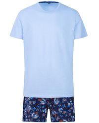 Hom Pyjama court Pyjamas / Chemises de nuit - Bleu