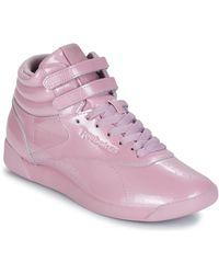 Reebok Hoge Sneakers Freestyle Hi - Paars