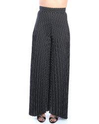 Hanita - H.P1016.2737 Pantalone Femme Noir blanc Pantalon - Lyst