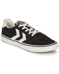 Hummel Lage Sneakers Stadil 3.0 Suede - Zwart