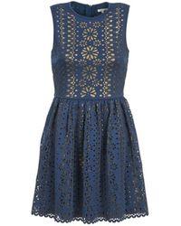 Manoush Kleid NEOPRENE - Blau