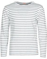 Armor Lux T-shirt Lange Mouw Houat - Wit