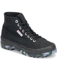 Superga Hoge Sneakers 2341 Alpina Marblegum - Zwart