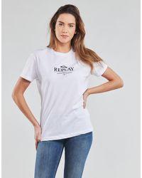 Replay W3506D-20994 T-shirt - Blanc