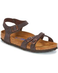 b0848a33e4a981 Birkenstock Taormina Mocca Women s Sandals In Multicolour in Brown ...