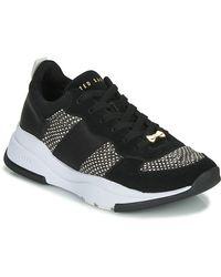 Ted Baker Lage Sneakers Weverds - Zwart