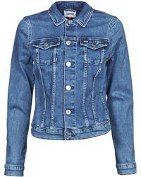 Tommy Hilfiger Giacca In Jeans Vivianne Slim Denim Trucker Nmbs - Blu