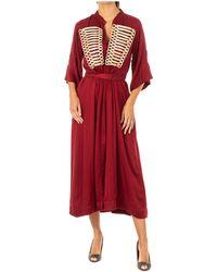 La Martina Vestido largo Vestido - Rojo