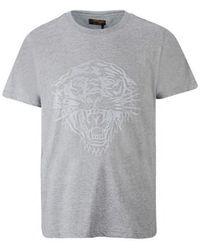 Ed Hardy Tiger glow t-shirt mid-grey T-shirt - Gris