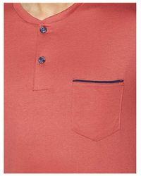EMINENCE Pyjama Court Col T Rouille Pyjamas / Chemises de nuit - Rouge